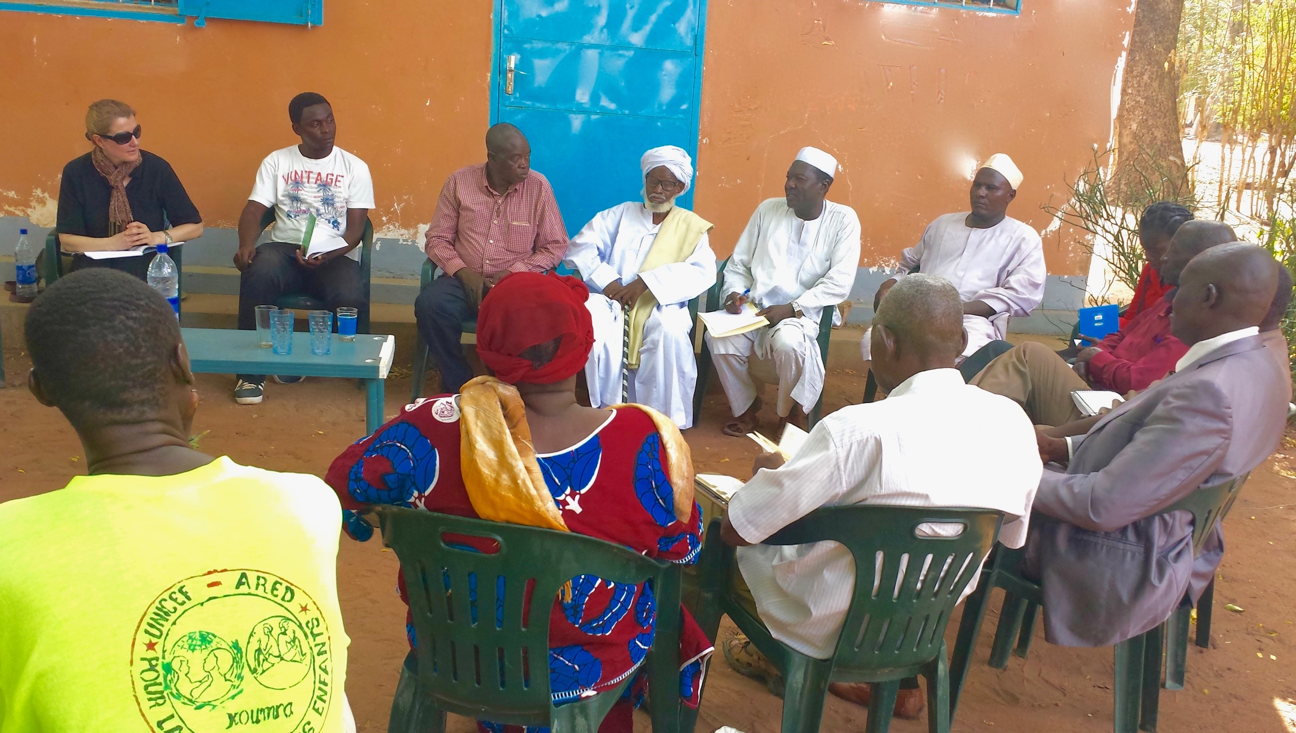 Focus Group Discussion with religious leaders in Koumra, Chad.